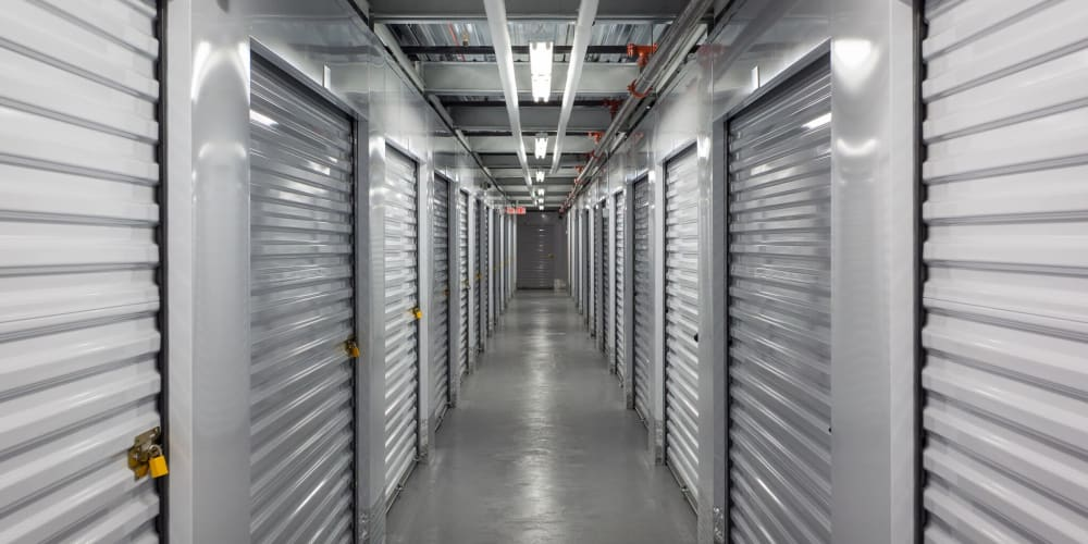 Indoor climate controlled units at StorQuest Self Storage in Long Beach, New York
