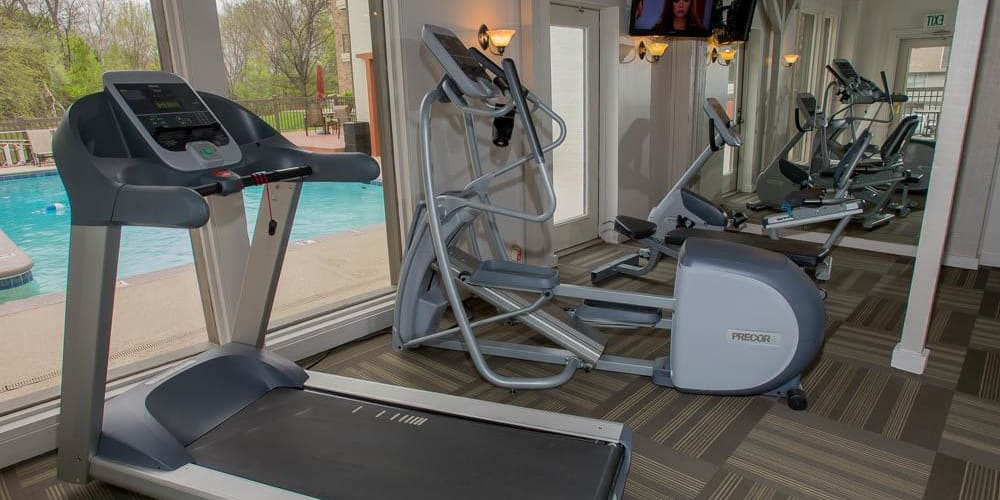 The fitness center at Country Hollow in Tulsa, Oklahoma