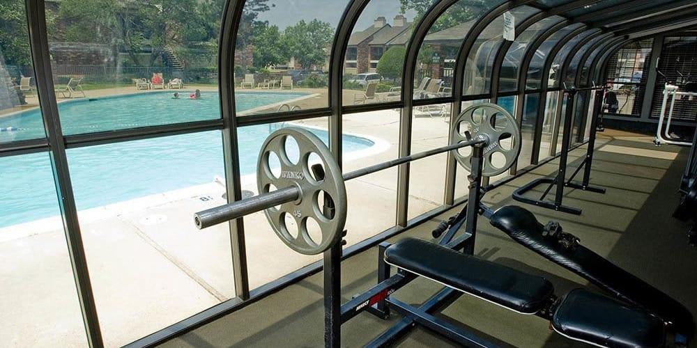 Fitness center for residents at The Warrington Apartments in Oklahoma City, Oklahoma