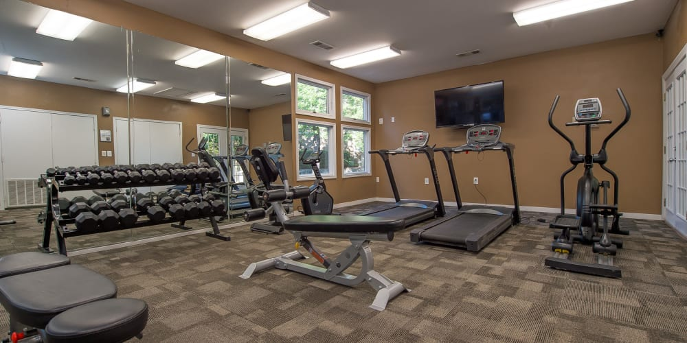 Fitness center for residents at The Pointe of Ridgeland in Ridgeland, Mississippi
