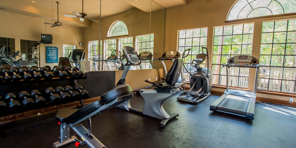 Fitness center for residents at The Trace of Ridgeland in Ridgeland, Mississippi