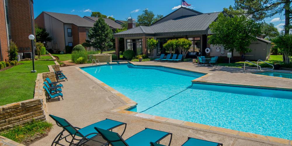 The community pool at Hunter's Ridge in Oklahoma City, Oklahoma
