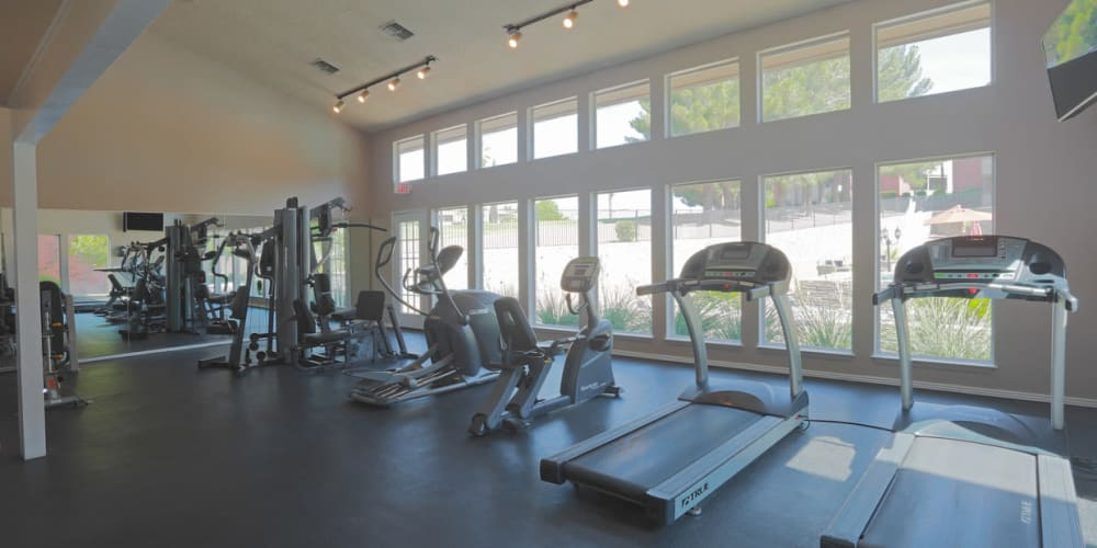 Fitness center for residents at High Ridge Apartments in El Paso, Texas
