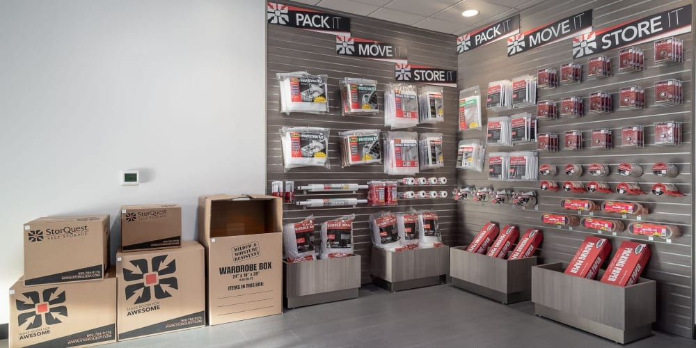 Available packing supplies at StorQuest Self Storage in Denver, Colorado
