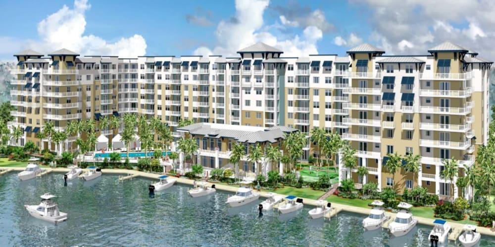 Broadstone Oceanside apartment complex near Aquamarina Oceanside in Pompano Beach, Florida