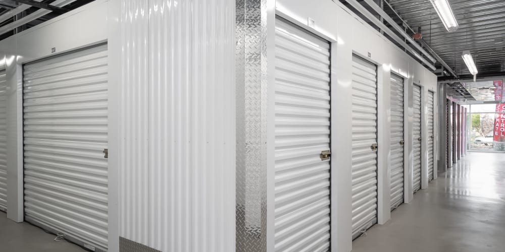 Small and large indoor storage units at StorQuest Express - Self Service Storage in Sacramento, California