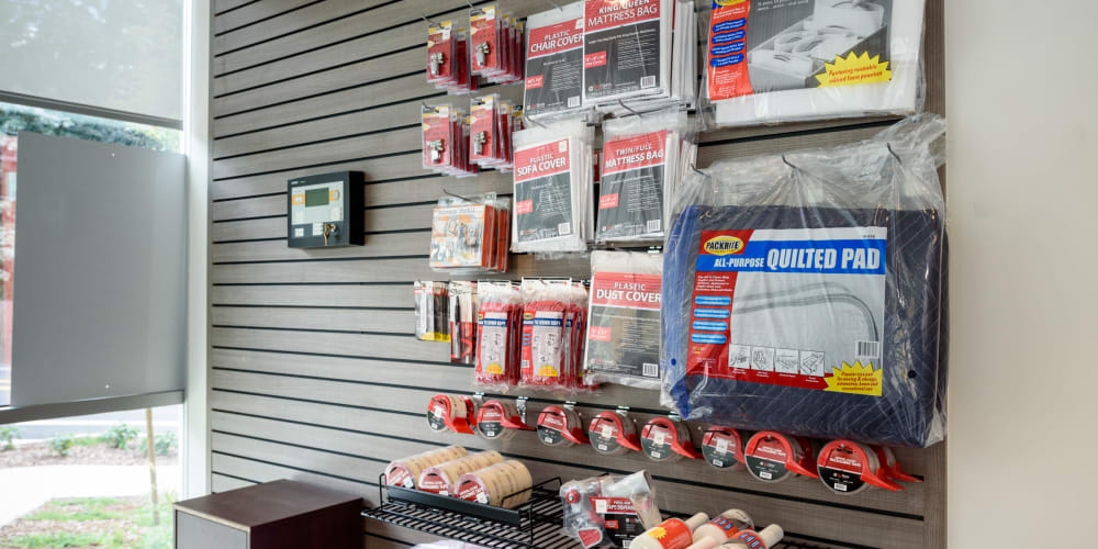Available packing supplies at StorQuest Self Storage in Seattle, Washington