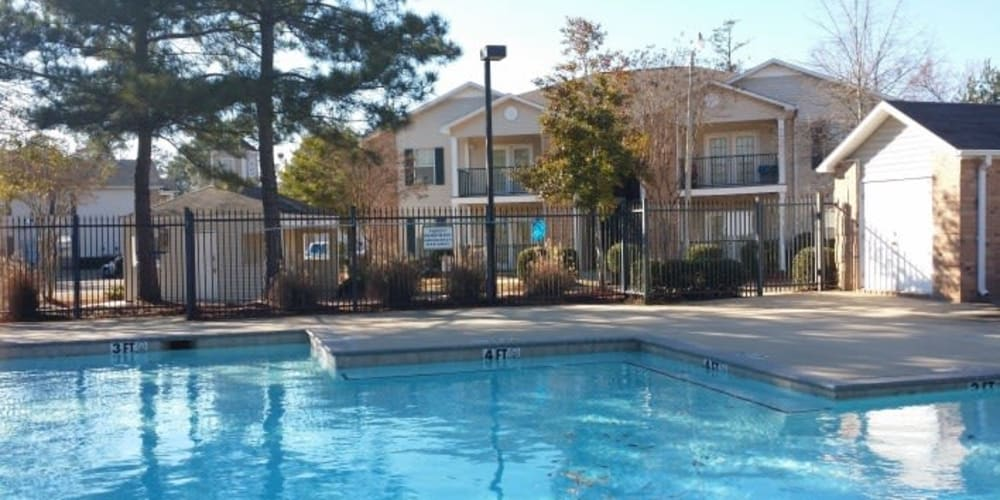 The community pool at Bristol Park Apartments in Jackson, Mississippi