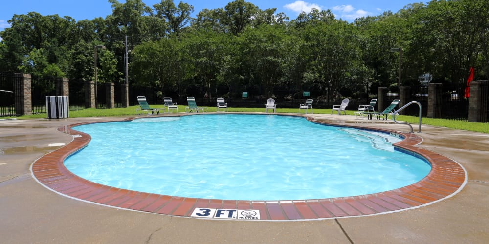 Resort style pool at Summer Park Apartments in Jackson, Mississippi