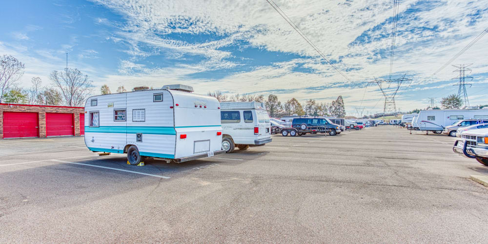 RV parking at Devon Self Storage in Cordova, Tennessee