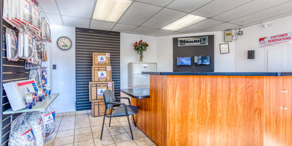 Front desk at Devon Self Storage in Memphis, Tennessee
