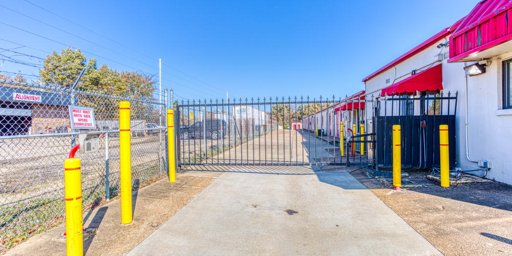Gated entry into Devon Self Storage in Memphis, Tennessee