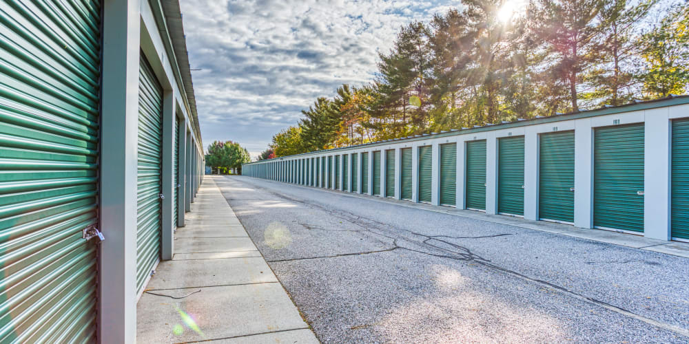 Large driveways through Devon Self Storage in Holland, Michigan
