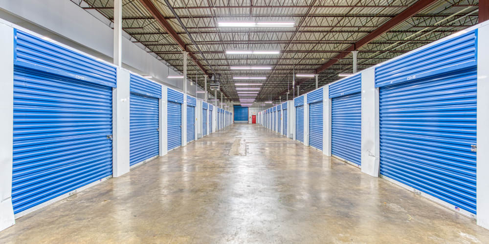 Climate-controlled storage units at Devon Self Storage in Memphis, Tennessee