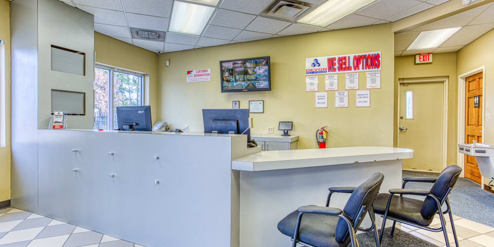 Front desk inside of Devon Self Storage in Memphis, Tennessee