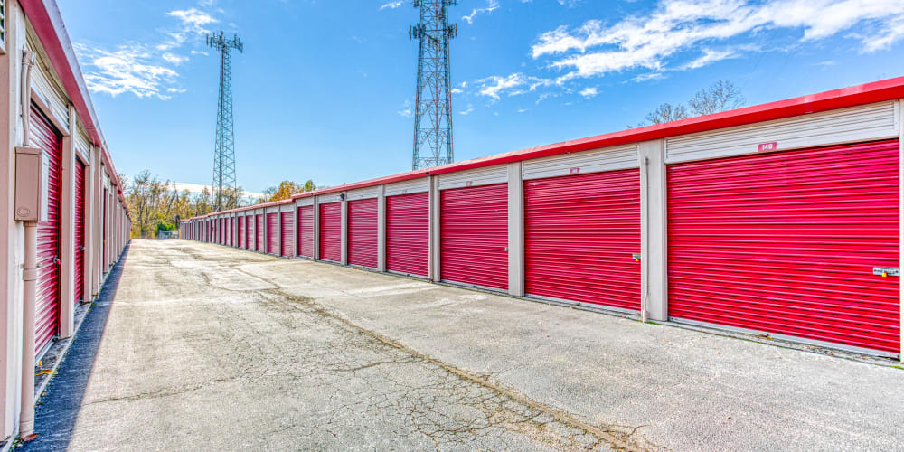 Large driveways at Devon Self Storage in Cordova, Tennessee