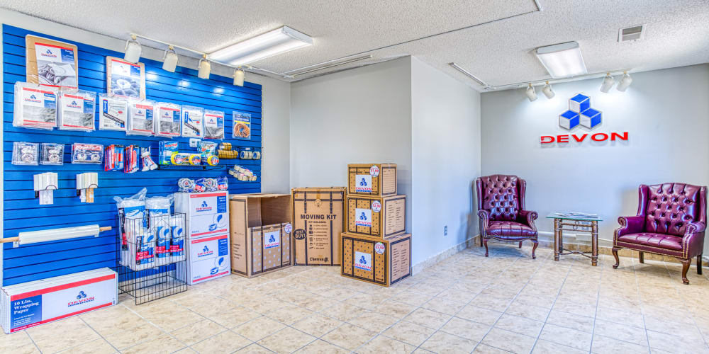 Packing and moving supplies at Devon Self Storage in Memphis, Tennessee