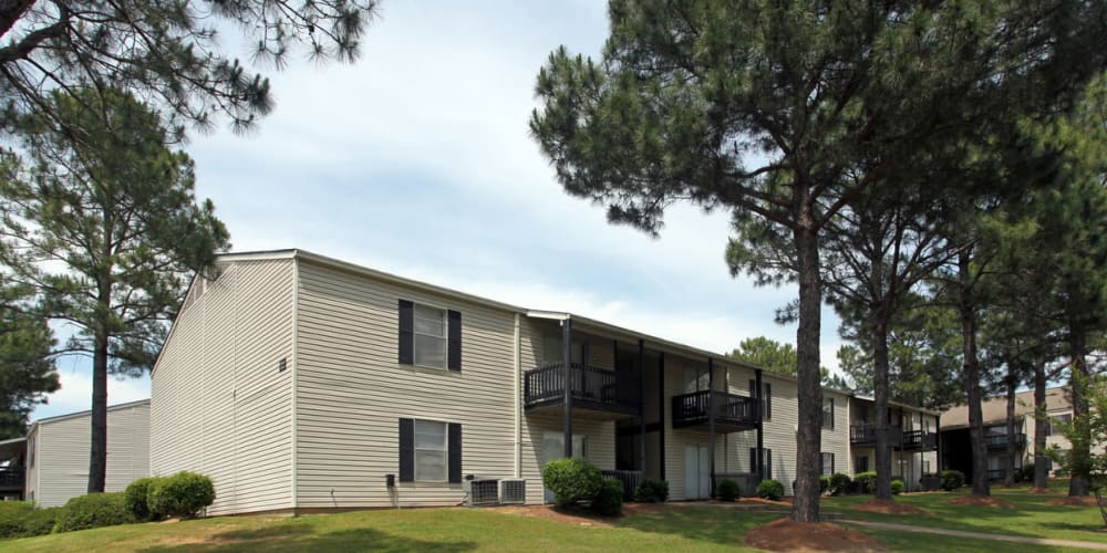 Outdoor view at Pinebrook Apartments in Ridgeland, Mississippi