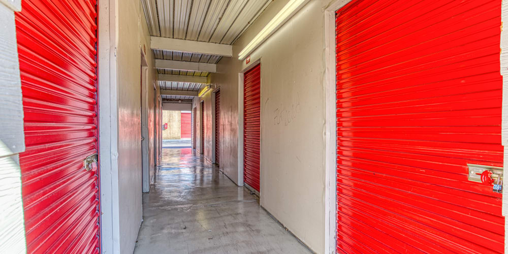 Indoor storage units at Devon Self Storage in Memphis, Tennessee