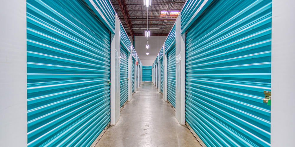 Climate-controlled storage units at Devon Self Storage in Charlotte, North Carolina