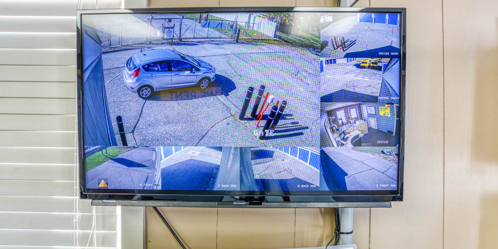 Video surveillance monitors at Devon Self Storage in Jenison, Michigan