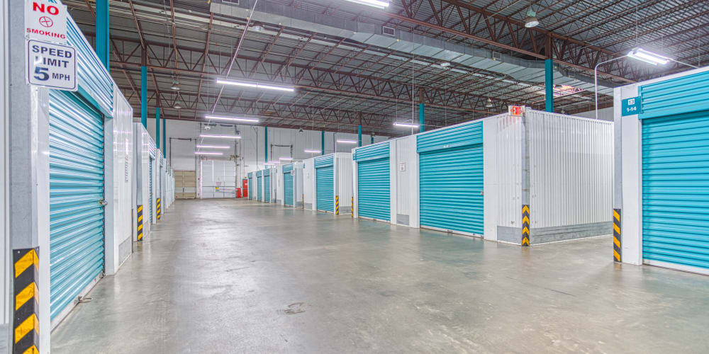 Indoor units at Devon Self Storage in Charlotte, North Carolina