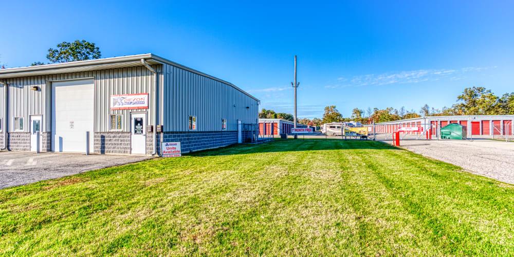 Leasing office at Devon Self Storage in Holland, Michigan