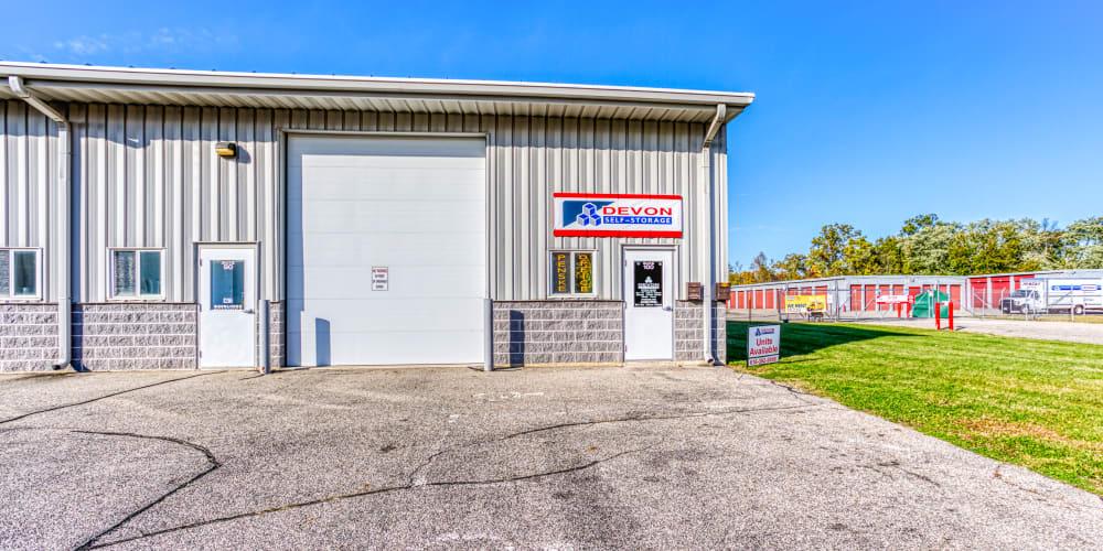 Leasing office in Holland, Michigan at Devon Self Storage