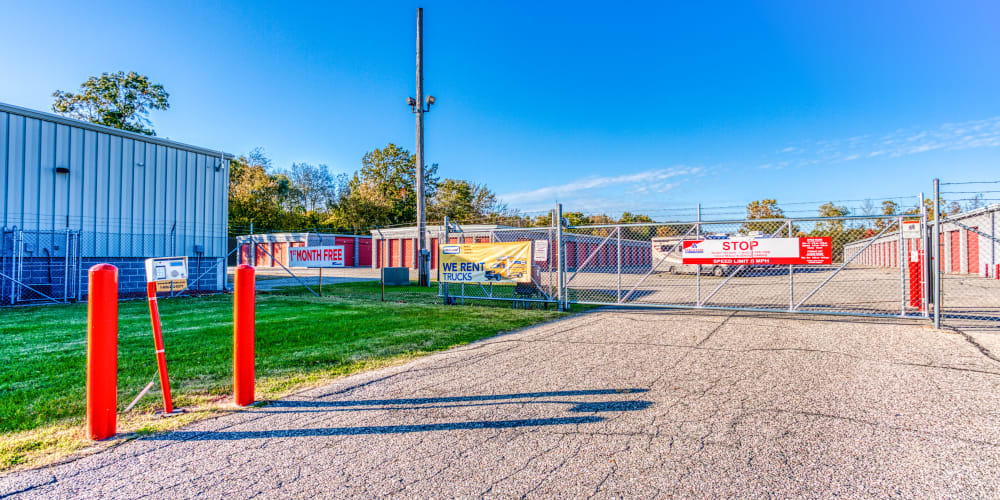 Gated entry into Devon Self Storage in Holland, Michigan