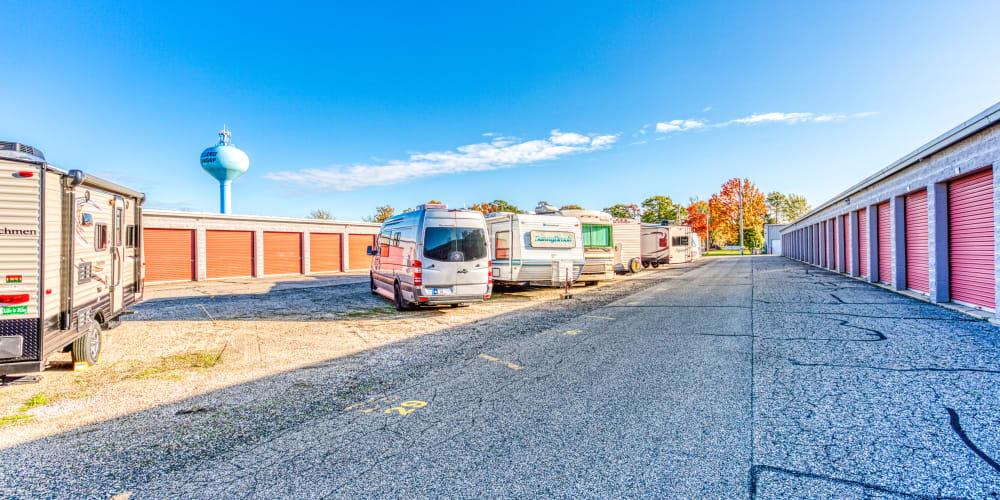Large parking spaces in Holland, Michigan at Devon Self Storage