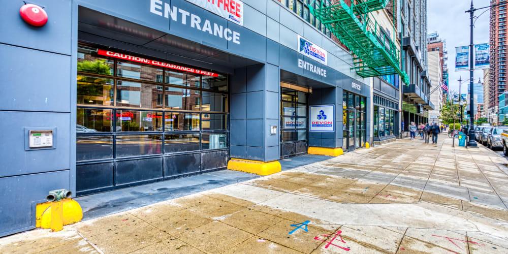 Entry into Devon Self Storage in Chicago, Illinois