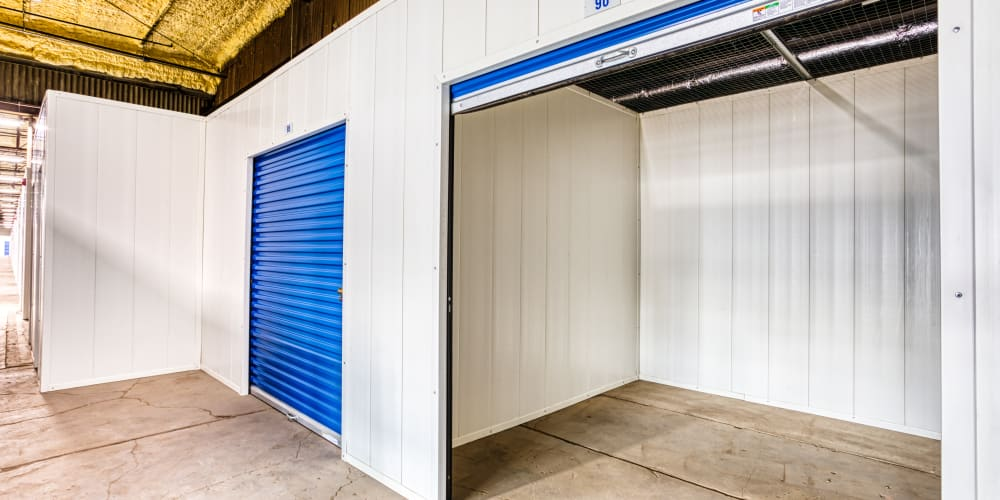 Inside of a self storage unit at Devon Self Storage in Davenport, Iowa