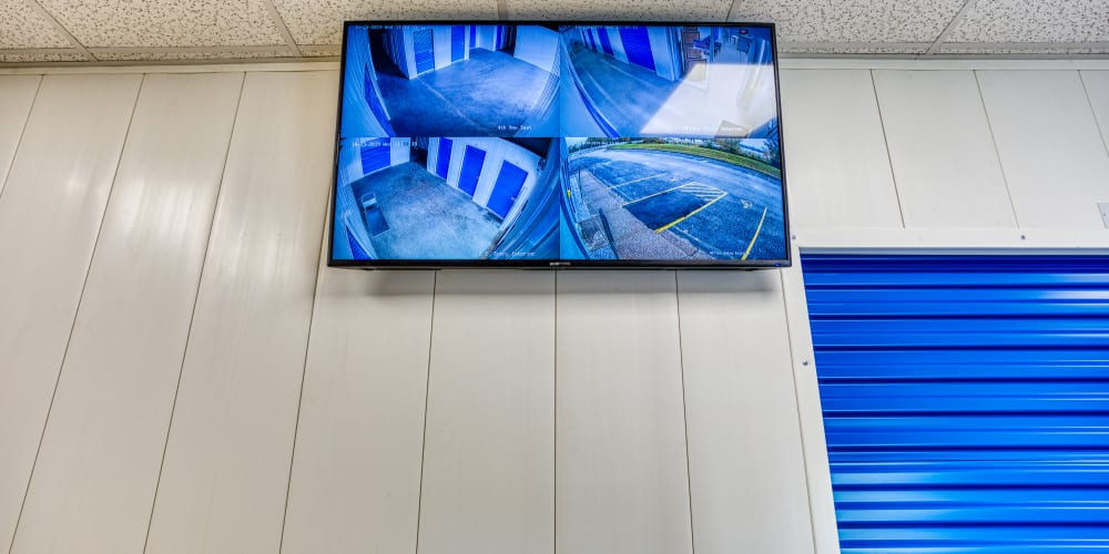 Video monitors at Devon Self Storage in Davenport, Iowa