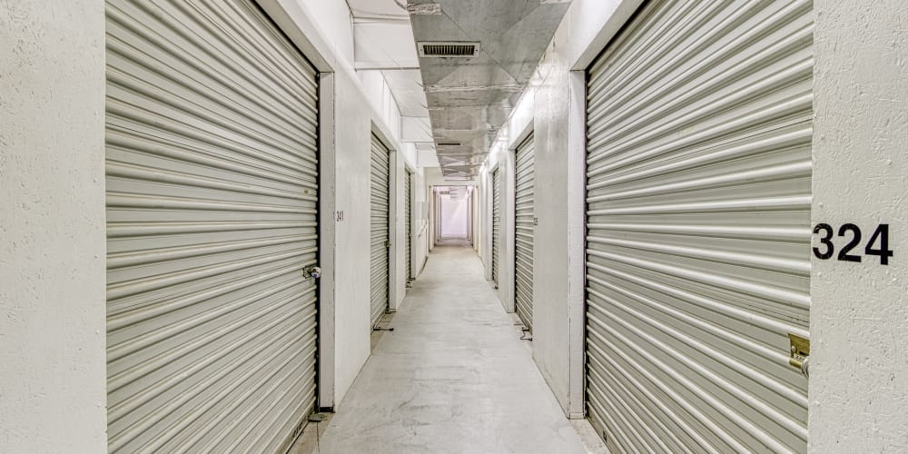 Climate-controlled storage units at Devon Self Storage in Apple Valley, California