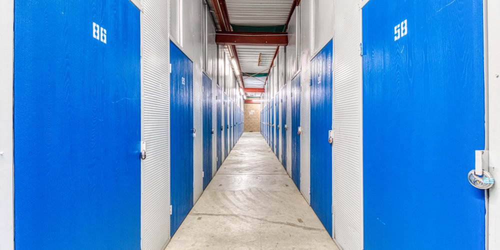 Climate-controlled storage units in Palm Springs, California at Devon Self Storage