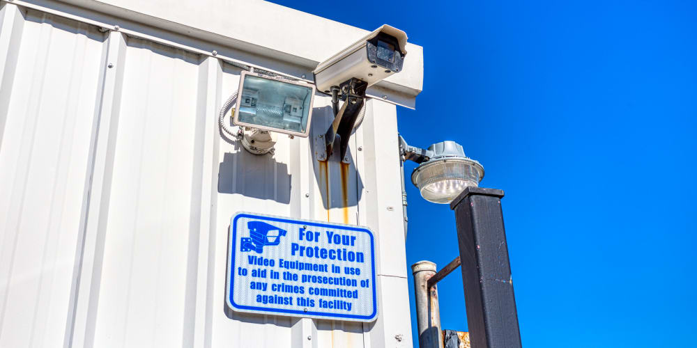 Video camera for surveillance at Devon Self Storage in Pasadena, Texas