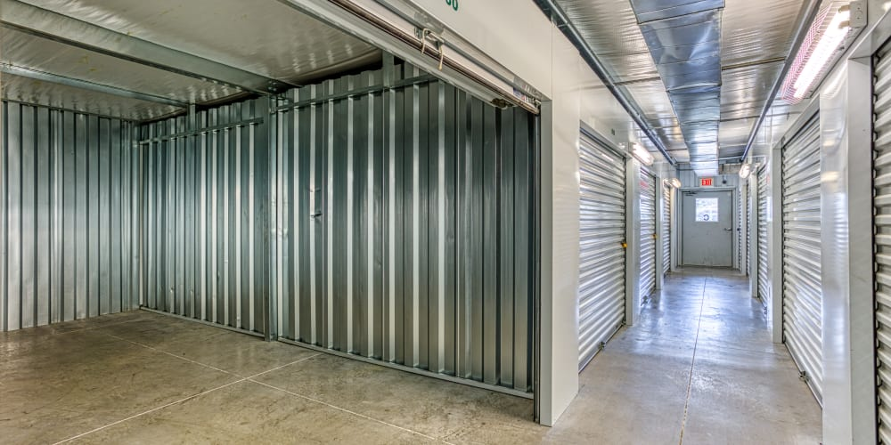 Inside of a climate-controlled storage unit in Spring, Texas at Devon Self Storage