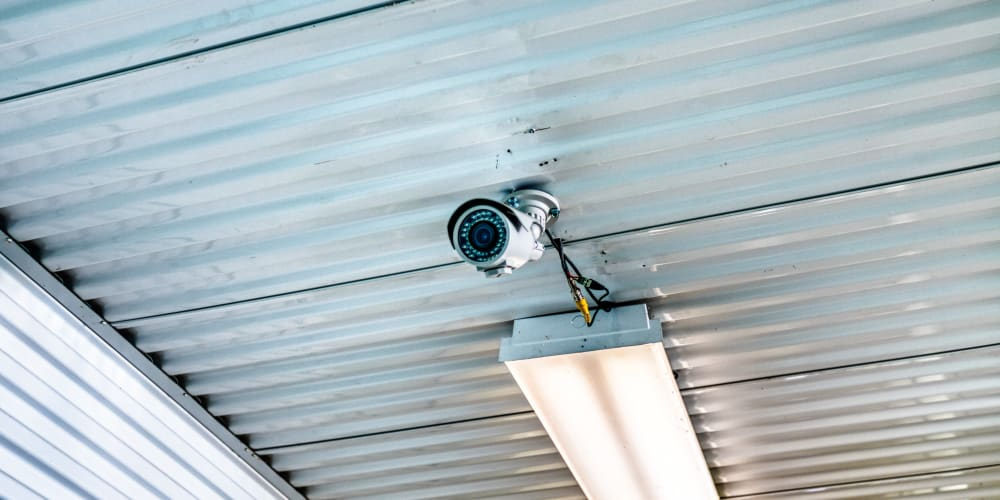 Video camera looking over climate-controlled storage in Sherman, Texas at Devon Self Storage