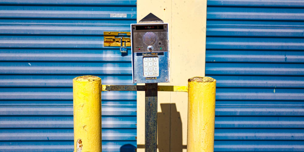 Keypad for the gated entry in Sherman, Texas at Devon Self Storage