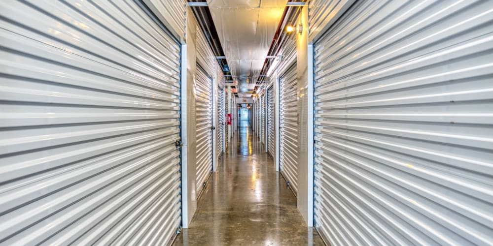 Climate-controlled storage at Devon Self Storage in Greenville, Texas