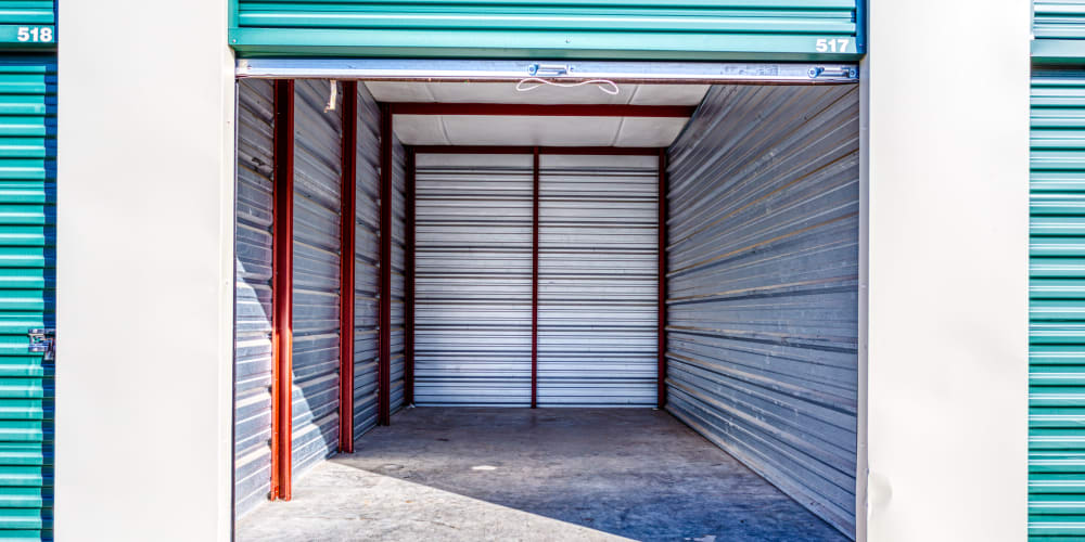 Inside of a self storage unit in Greenville, Texas at Devon Self Storage