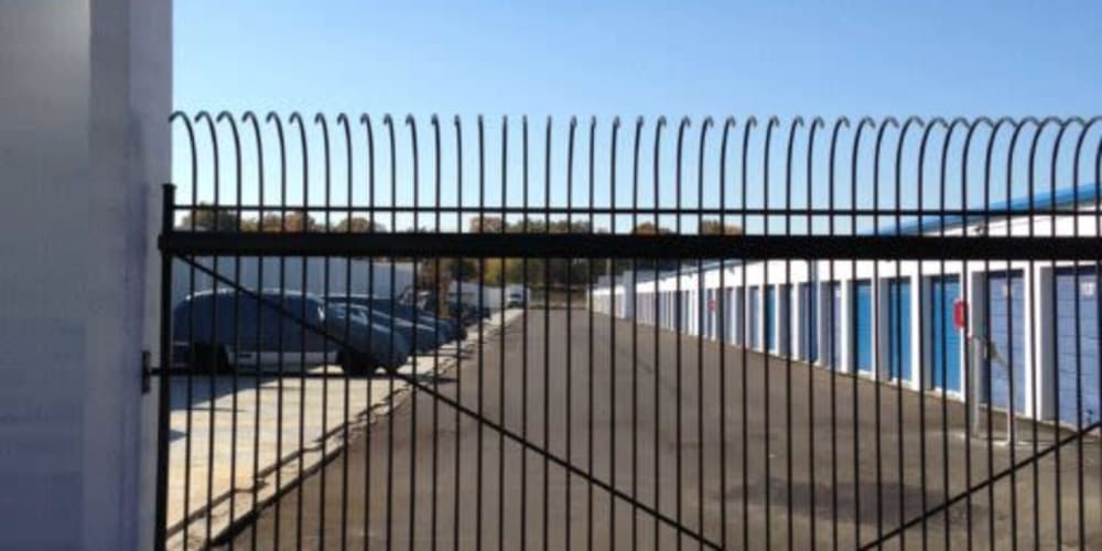 Gated entry at Devon Self Storage in Memphis, Tennessee