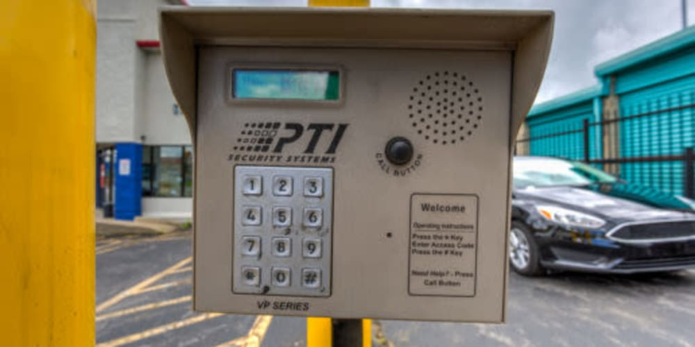 The keypad entry system at Devon Self Storage in Madison, Tennessee