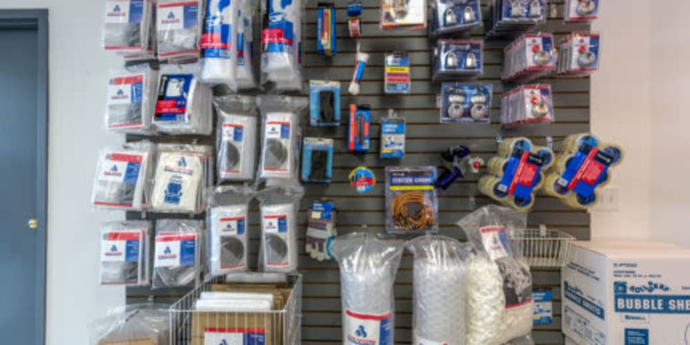 Packing supplies available for purchase at Devon Self Storage in Madison, Tennessee
