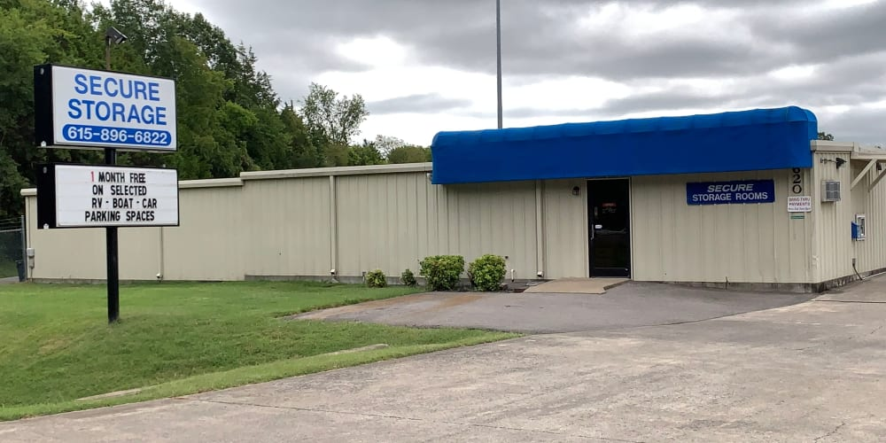 The exterior of Secure Storage in Murfreesboro, Tennessee