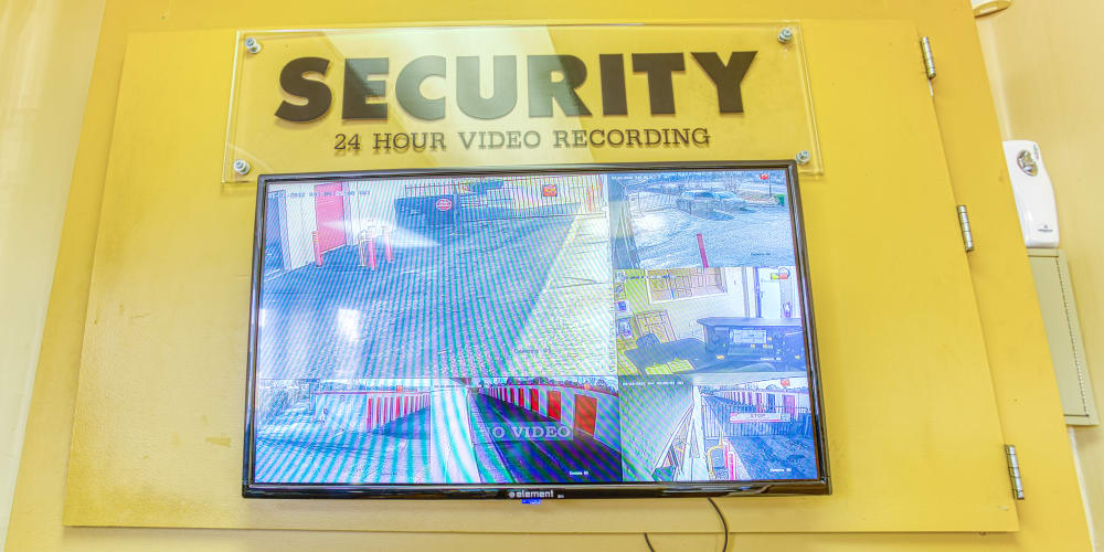 A security television at Secure Storage in Murfreesboro, Tennessee