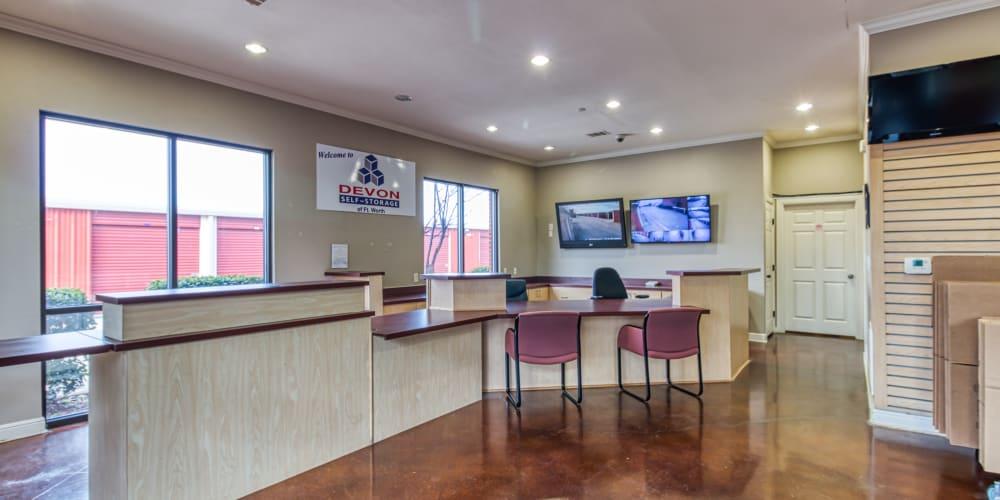 Office at Devon Self Storage in Fort Worth, Texas