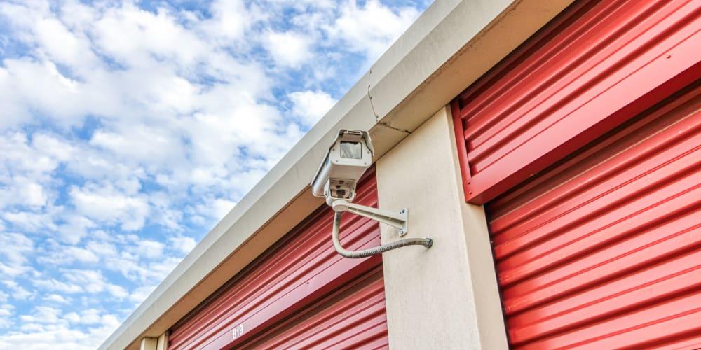 Exterior cameras at Devon Self Storage in Fort Worth, Texas