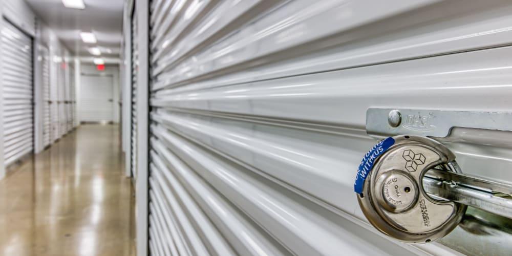 Interior units at Devon Self Storage in Fort Worth, Texas
