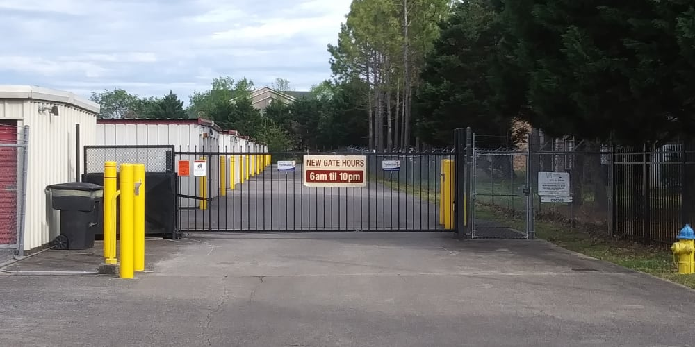 Security gate at Secure Storage in Murfreesboro, TN